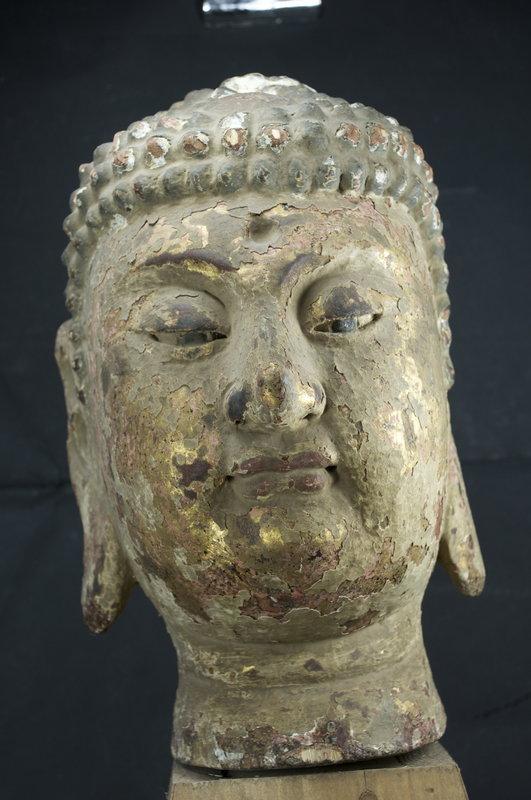 Statue Head of Buddha, China, 18th C.