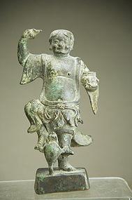 Rare Statue of Liu Hai, Ming Dyn.