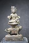 Statue of Bodhisattva Manjusri, China, Ming Dynasty