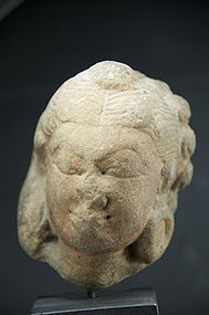 Small Hindu Deity Head, India, 16th C.