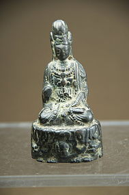 Very Rare Figurine of Kuan Yin, Ca. 6th C.