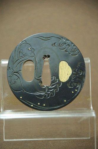 Mokkogata Tsuba, Japan, Mid-Edo Period