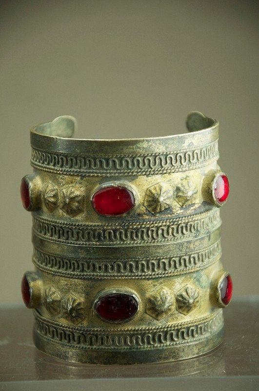 Turkmen Silver Alloy Bracelet, Afghanistan