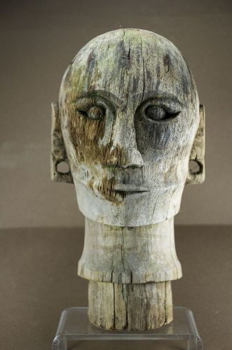 Funeral Effigy Head, Sumatra Isl. Batak Peoples