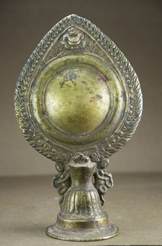 Buddhist Mirror, Nepal, 18th C.