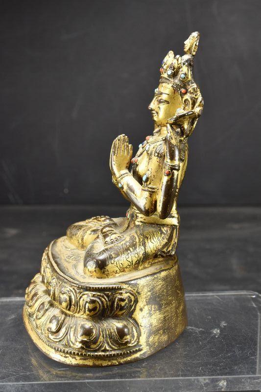 Important Statue of Sadaksari Avalokitesvara, Tibet, 16th C.