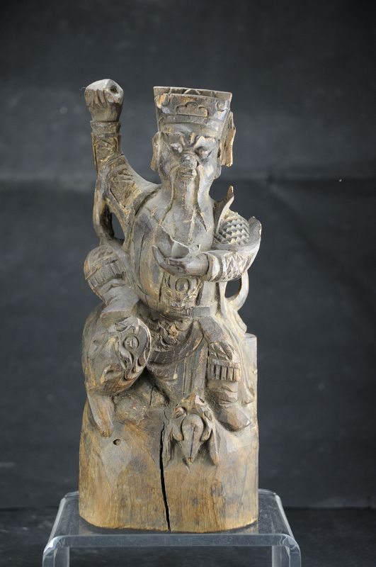Statue of Chao Kung Ming, God of Wealth, China, 19th C.