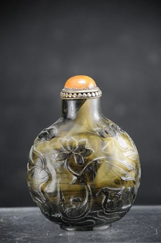 Peking Glass Snuff Bottle, China, 19th C.
