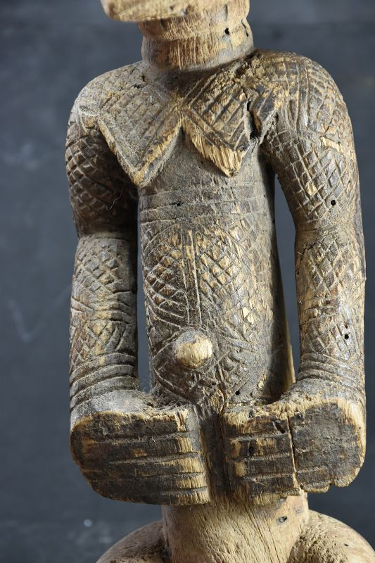 Rare Female Figurine,  R.D. Congo, Dengese Ethnic Group