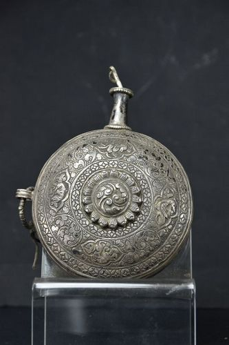 Large Silver Snuff Bottle, Tibet, 19th Century