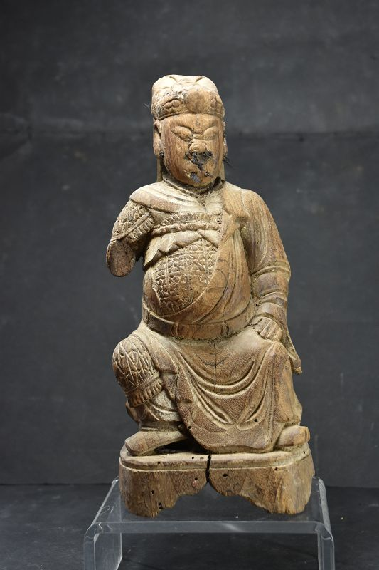 Statue of an Ancient God, China, Qing Dynasty, 19th C.