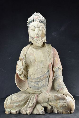 Statue of Buddha Sakyamuni, China, Qing Dynasty, 18th C.