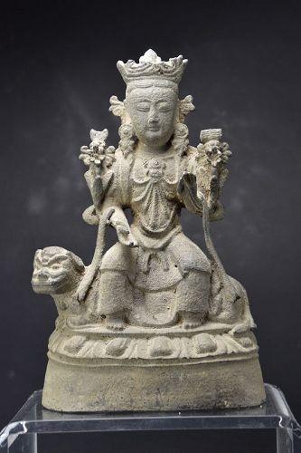 Statue of Wenshu, China, Late Yuan/Early Ming Dynasty