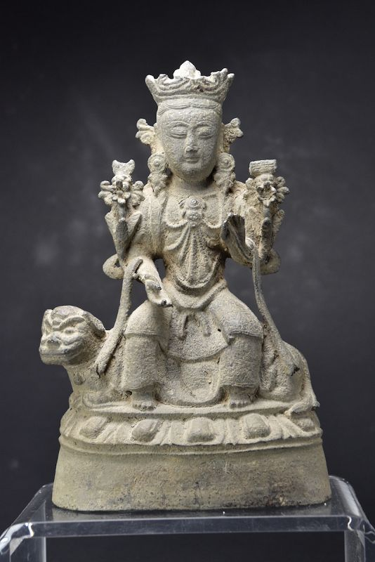 Statue of Wenshu, China, Late Yuan/Early Ming Dynasty