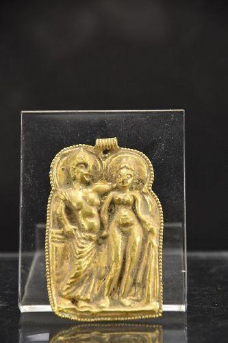 Rare Gilt Bronze Pendant, Gandhara, Ca. 3rd C.