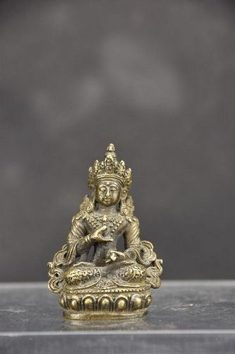 Tiny Statue of Adibuddha Vajrasattva, Tibet, 19th C.