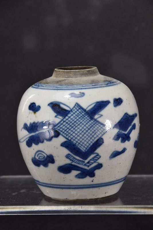 Small Porcelain Jar # 1, China, Qing Dynasty