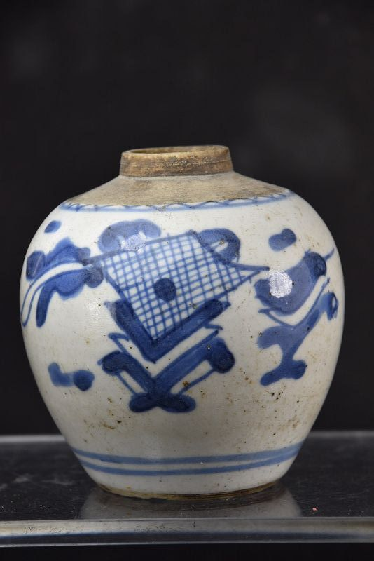 Small Porcelain Jar # 2, China, Qing Dynasty