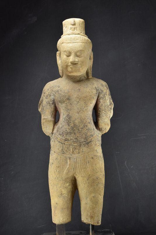 Important Statue of Avalokiteshvara, Cambodia, Khmer, Ca. 13th C.