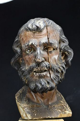 Important Head Of An Apostle, 18th century