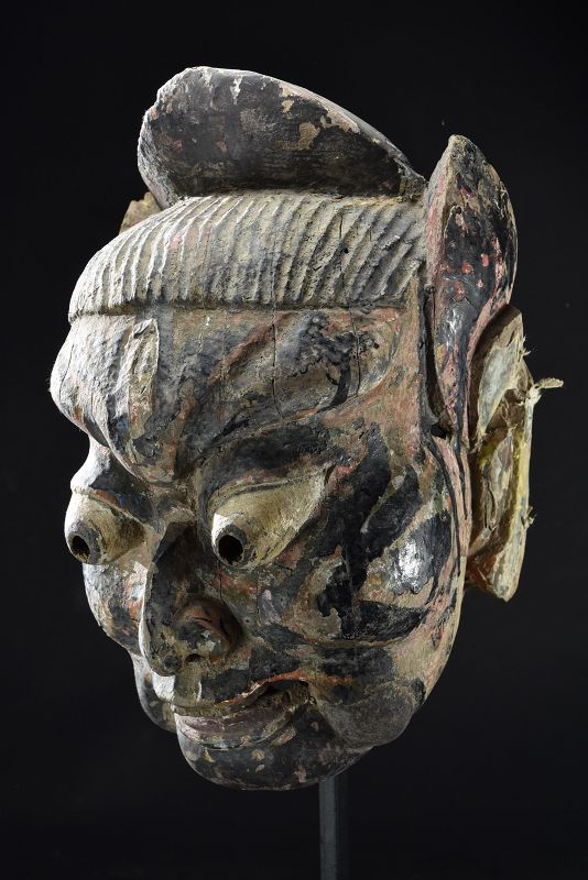 Rare & Important Mask of a Demon, China, Early 19th C.