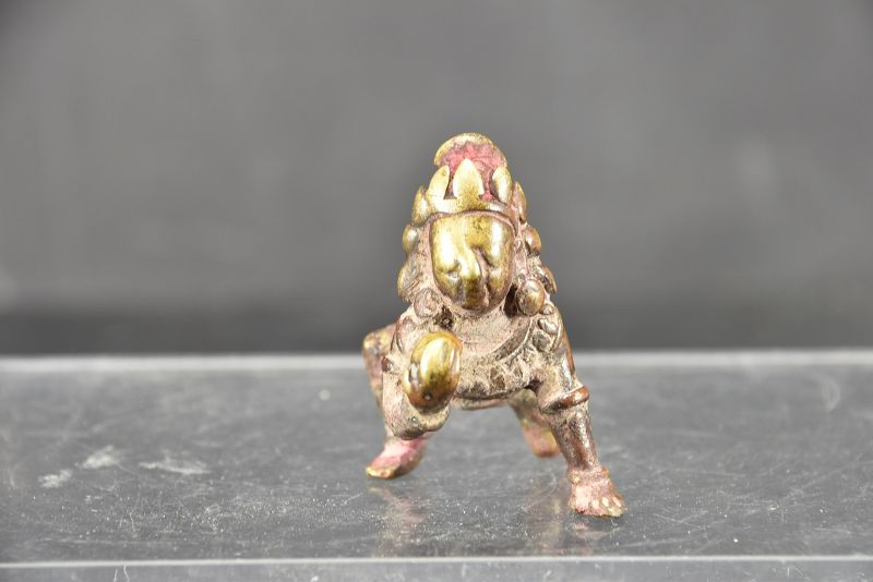 Small Bronze Statue of Krishna as a Boy, Nepal, 17th C.