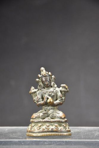 Small Statue of Buddha Gautama, Tibet, 17th C.