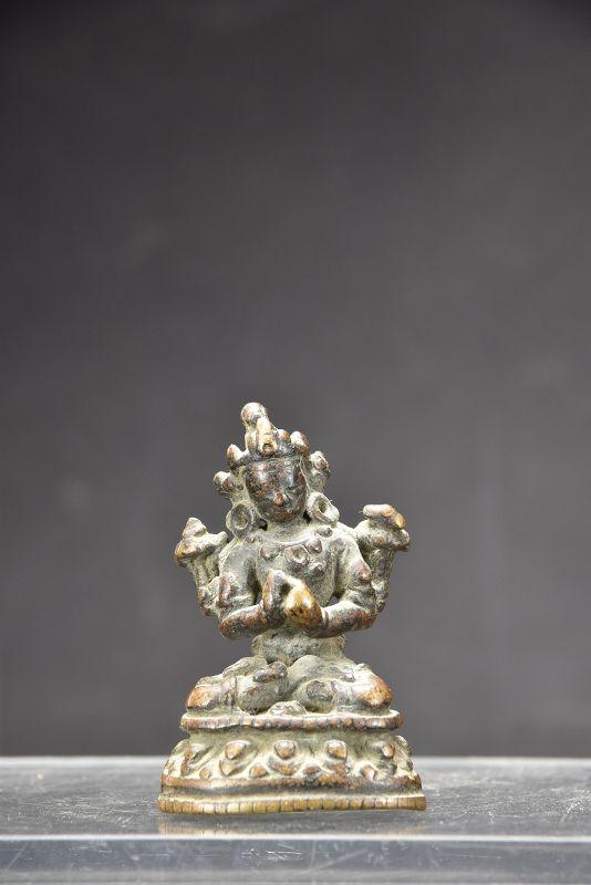 Small Statue of Buddha Gautama, Tibet, 17th C.