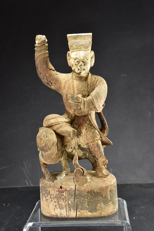 Statue of Chao Kung Ming, China, 19th C.