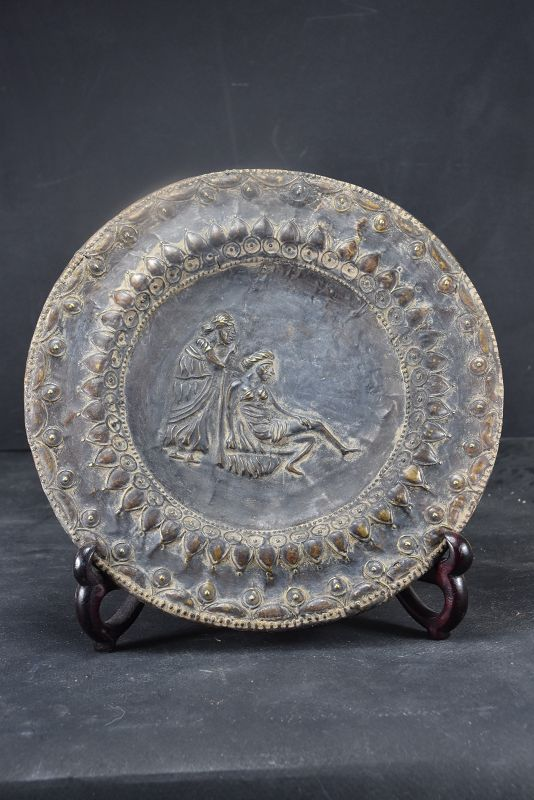 Silver Alloy Plate #1, Bactria, Ca. 500 B.C.