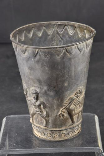 Silver Alloy Goblet, Bactria, Ca. 500 B.C.