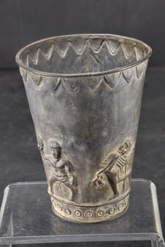 Silver Alloy Goblet, Bactria, Ca. 500 B.C.