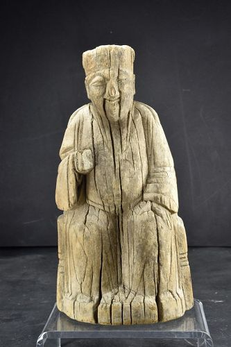 Statue of a Taoist Deity, China, Yuan/Early Ming Dynasty