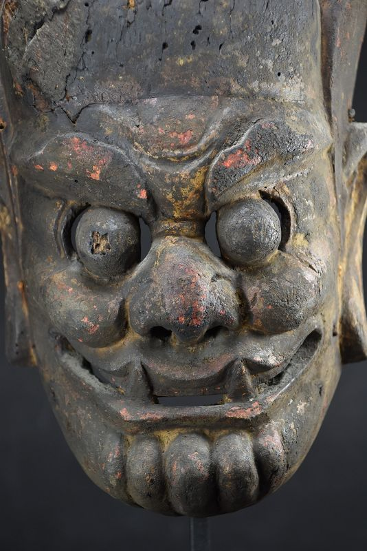 """Ancient """"Nuo"""" Theater Mask, China, 18th C."""