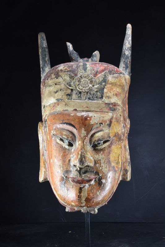"Important ""Nuo"" Mask of General Guanyu, China, Early 19th C."