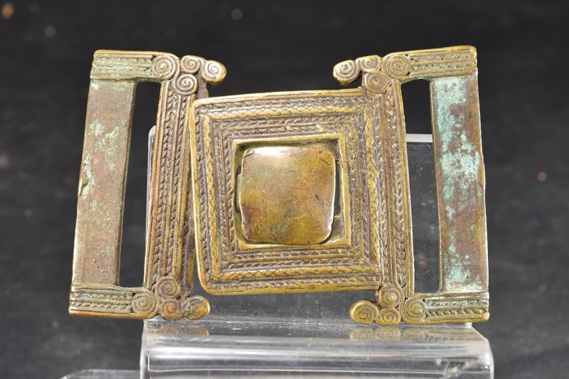 Bronze Belt Buckle, Burma, Early 19th C.