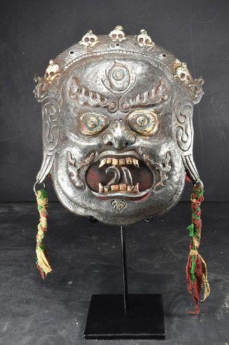 Rare & Important Tibetan Mask of Mahakala