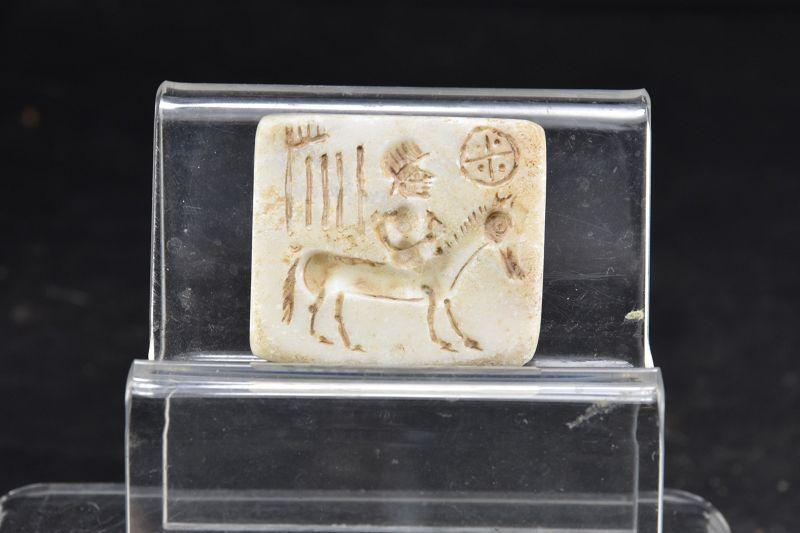 Rare Steatite Seal, Indus, Ca. 2000 BC