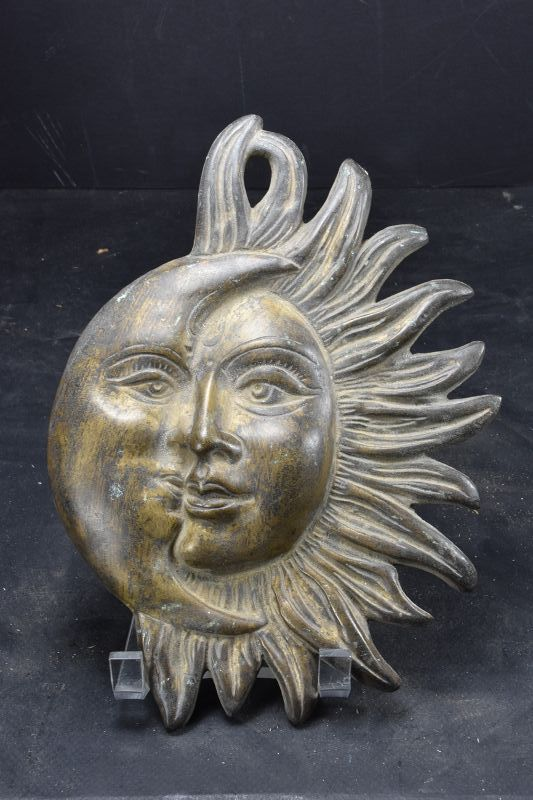 Symbolic Bronze Plate, India, 19th C.
