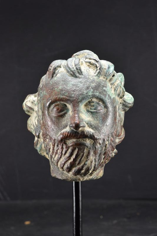 Bronze Head of a Bearded Man, Gandhara, Ca. 3rd C.