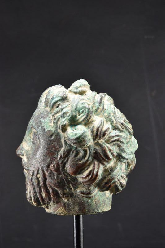 Bronze Head of a Bearded Man, Gandhara, Ca. 3rd C.