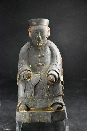 Statue of a Taoist Deity, China,Qing Dynasty