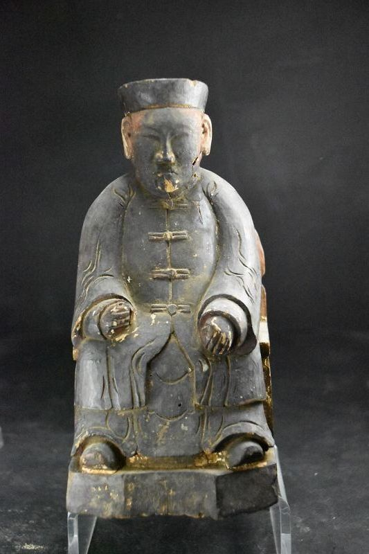 Statue of a Taoist Deity, China,Qing Dynasty
