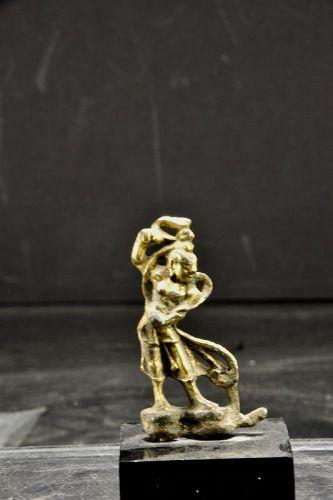 Miniature Gilt Bronze Statue of a Lokapala, China, Tang Dynasty