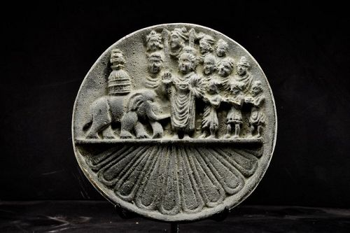 Important Bronze Plate, Gandhara, 1st to 5th C.
