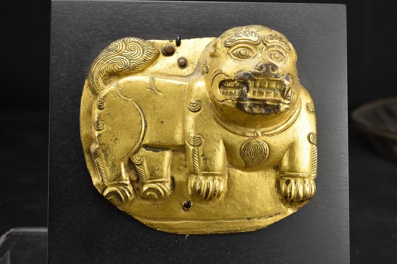 Snow Lion Plate, Tibet, Early 19th Century