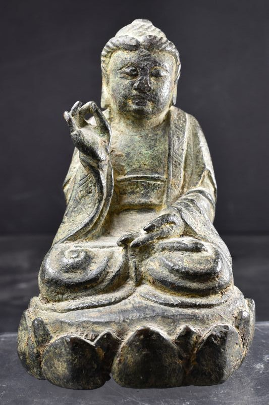 Rare & Important Statue of Buddha, Early Ming Dynasty, 14th Century