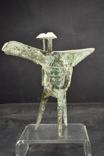 Important Bronze Vase, China, Shang Dynasty