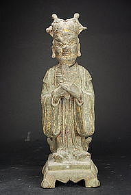 Statue of a Taoist Dignitary, China, Ming Dynasty