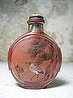 Peking Glass Snuff Bottle, China, 19th C.